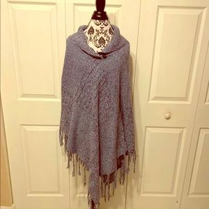 Plus Size Sweater Poncho 1x